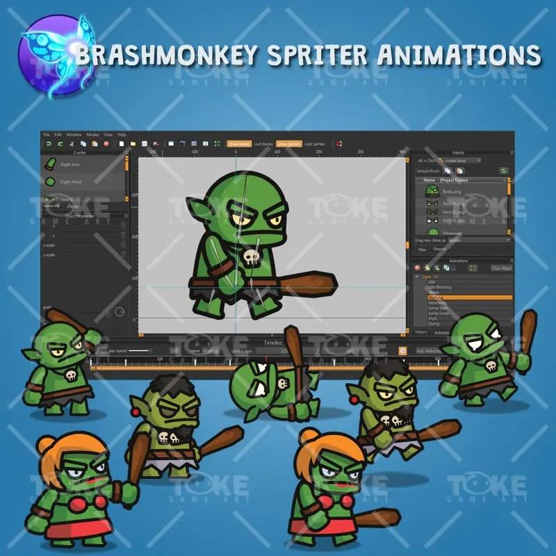 Ogre Tiny Style Character - Brashmonkey Spriter Animation