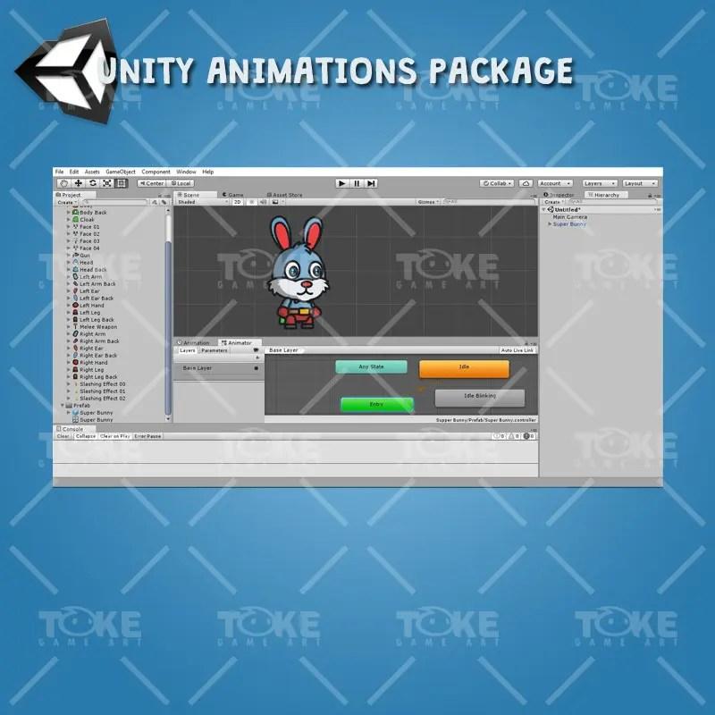 Super Bunny - Unity Animation Ready
