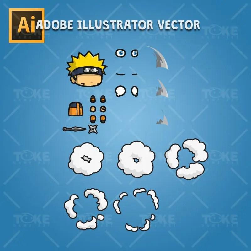 Shinobi 01 (Naruto) - Adobe Illustrator Vector Art Based