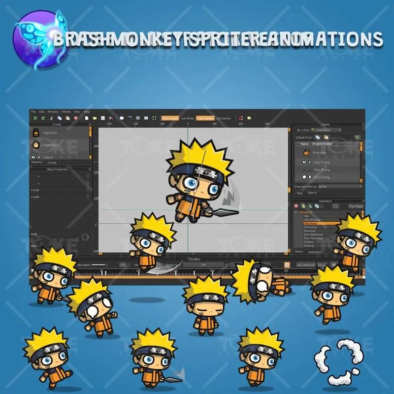 Shinobi 01 (Naruto) - Brashmonkey Spriter Animation