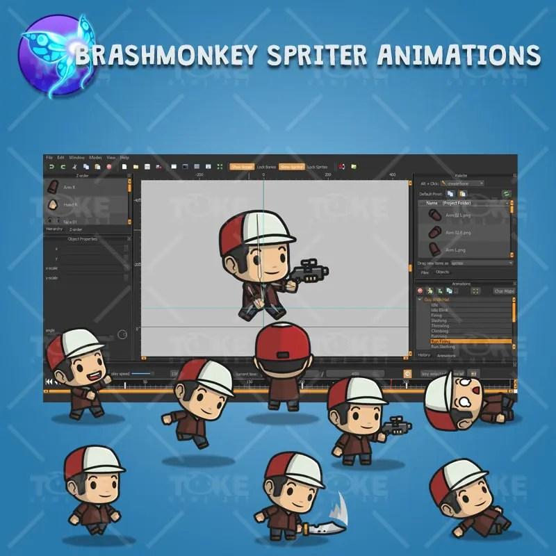 Boy with Hat - Brashmonkey Spriter Animation
