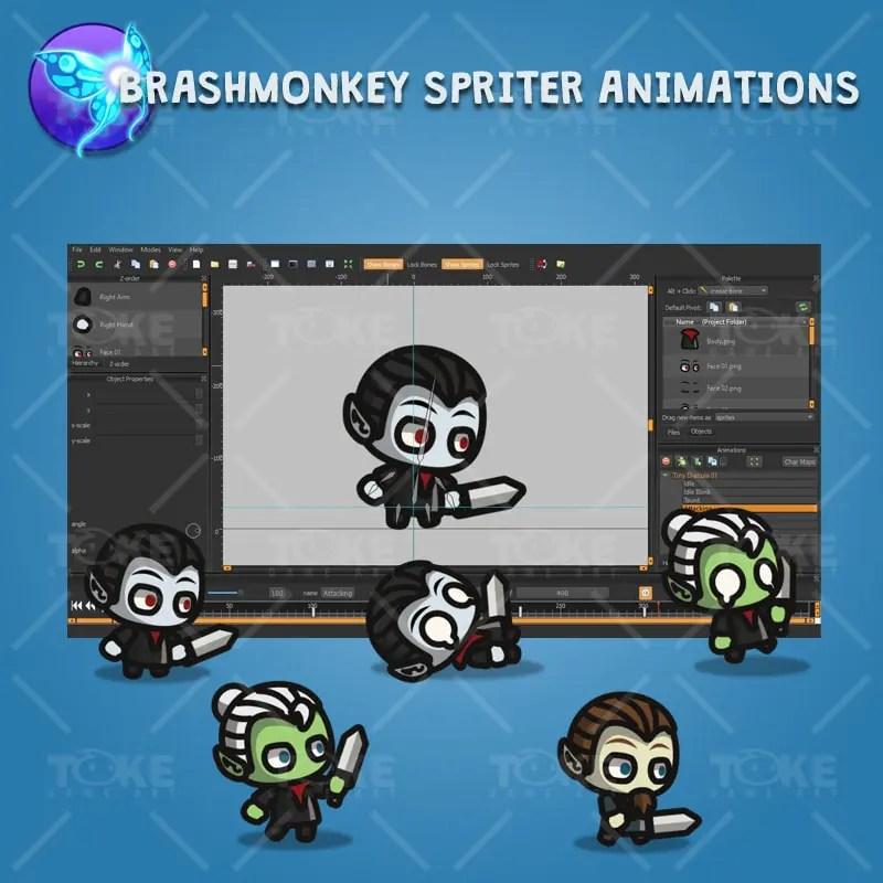 Dracula Tiny Style - Brashmonkey Spriter Animation