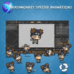Fat Shinobi Guy - Brashmonkey Spriter Animation