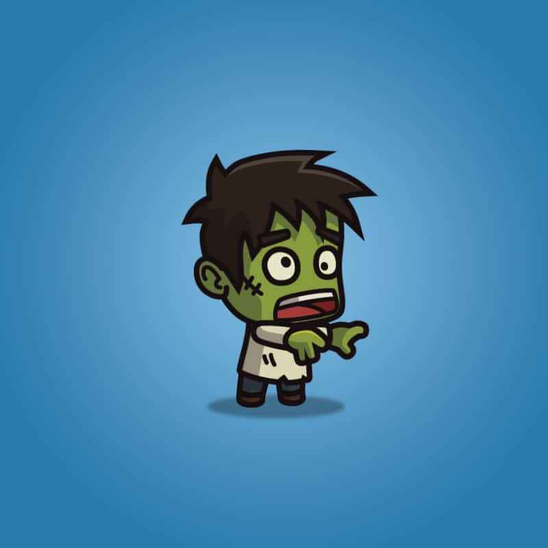 Cartoon Villager Zombie