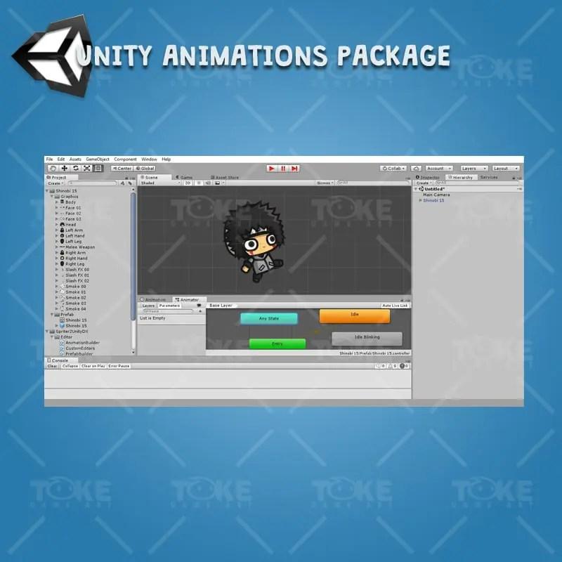 Gray Shirt Shinobi Guy - Unity Character Animation Ready