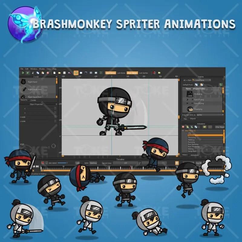 Mini Ninja - Brashmonkey Spriter Character Animation