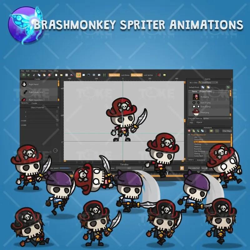 Pirate Skeleton - Brashmonkey Spriter Character Animation