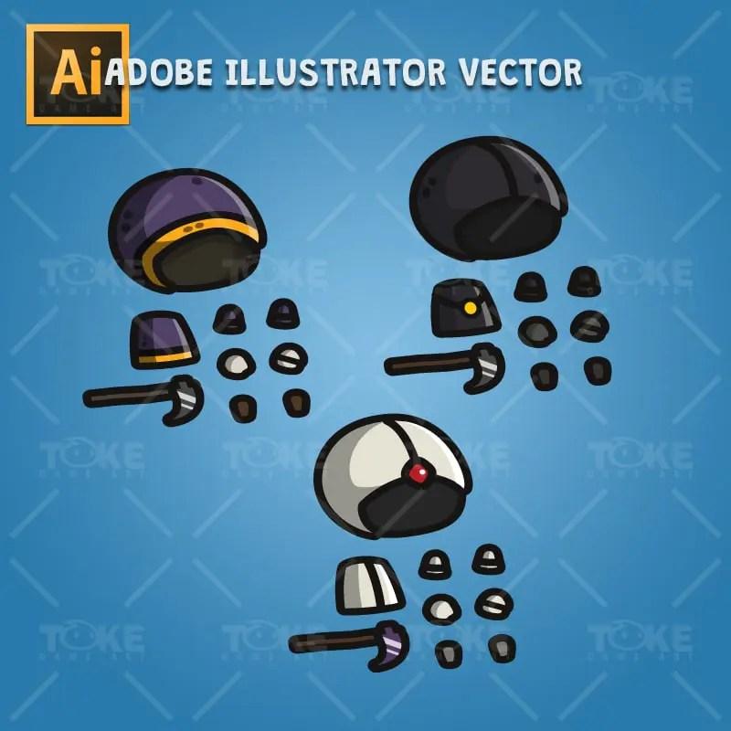 Tiny Executioners - Adobe Illustrator Vector Art Based