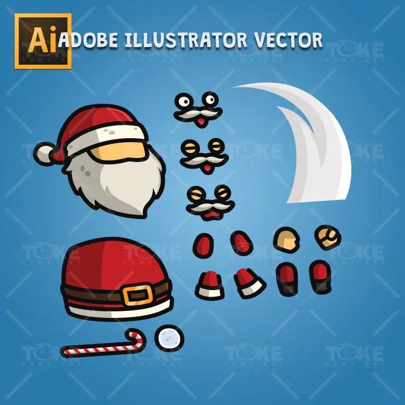 Santa Claus - Adobe Illustrator Vector Art Based Character