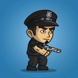 Policeman - Robert - 2D Character Sprite for Indie Game Developer