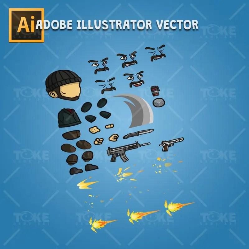 Robber - Adobe Illustrator Vector Art Based