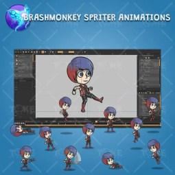 Punk Girl - Brashmonkey Spriter Character Animations