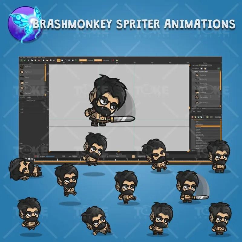 Barbarian Warrior - Brashmonkey Spriter Character Animations