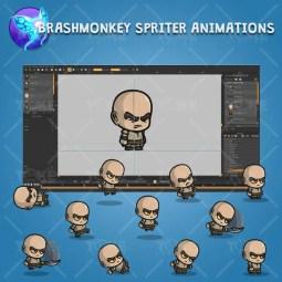 Evil Bald Guy - Brashmonkey Spriter Character Animations