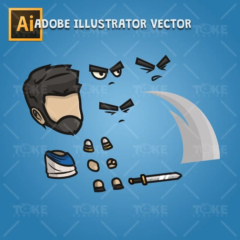 Romanian Settler - Adobe Illustrator Vector Art Based Character Body Parts