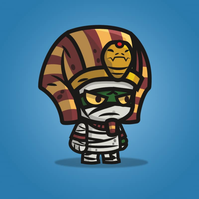 Egyptian Mummy - 2D Character Sprite for Indie Game Developer