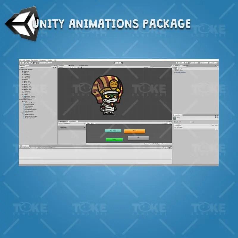 Egyptian Mummy - Unity Character Animation Ready with Spriter2UnityDX Tool