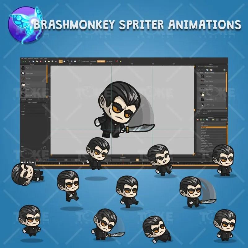 Vampire - Brashmonkey Spriter Charatcer Animations