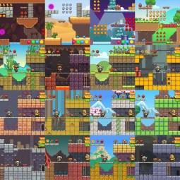Super Bundle 2D Game Asset - Character, GUI, Game Level