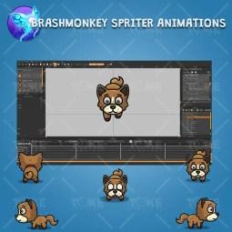 4 Directional Brown Dog - Brashmonkey Spriter Character Animations