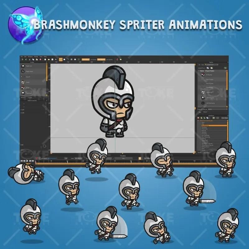 White Armored Kngiht - Brashmonkey Spriter Character Animations