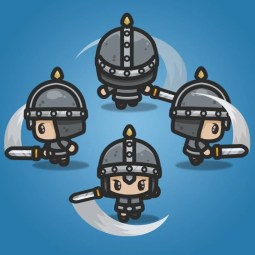 4 Directional Castle Guard - 2D Character Sprite