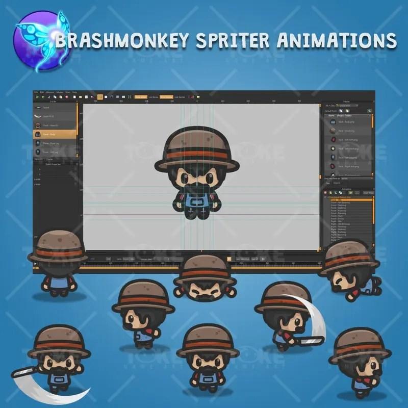 4 Directional Farmer Guy - Brashmonkey Spriter Character Animations