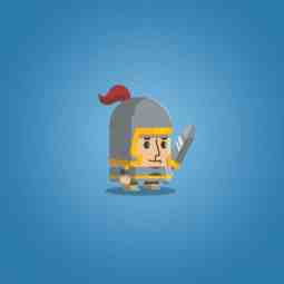 Flat Style Medieval Knight - 2D Character Sprite