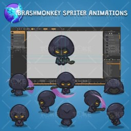 4 Directional Dark Witch - Brashmonkey Spriter Character Animations