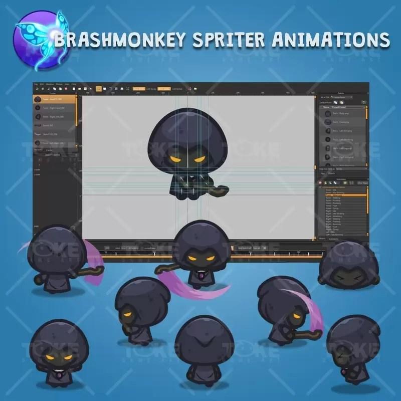 4 Directional Dark Witch - Brashmonkey Spriter Character Animations