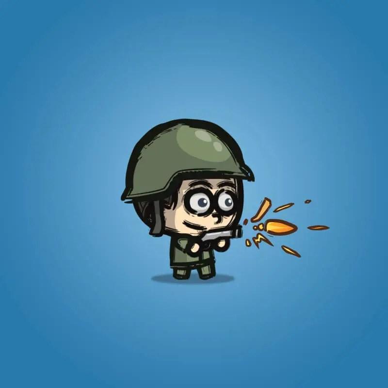 Cartoon Little Army 01 - 2D Character Sprite