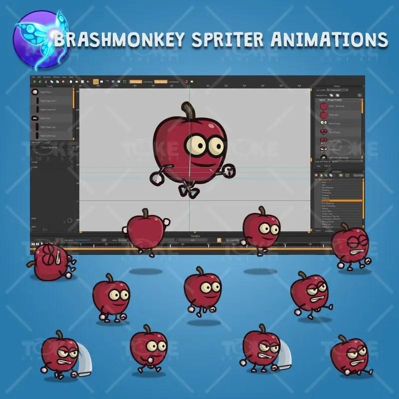 Red Apple Guy - Brashmonkey Spriter Character Animations