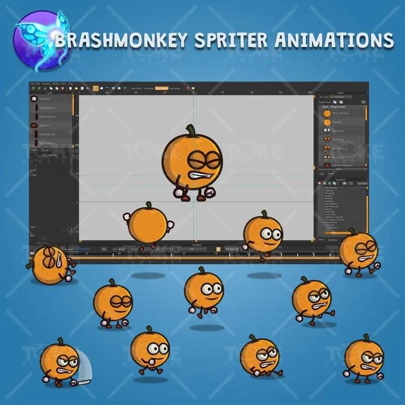 Orange Guy - Brashmonkey Spriter Character Animations