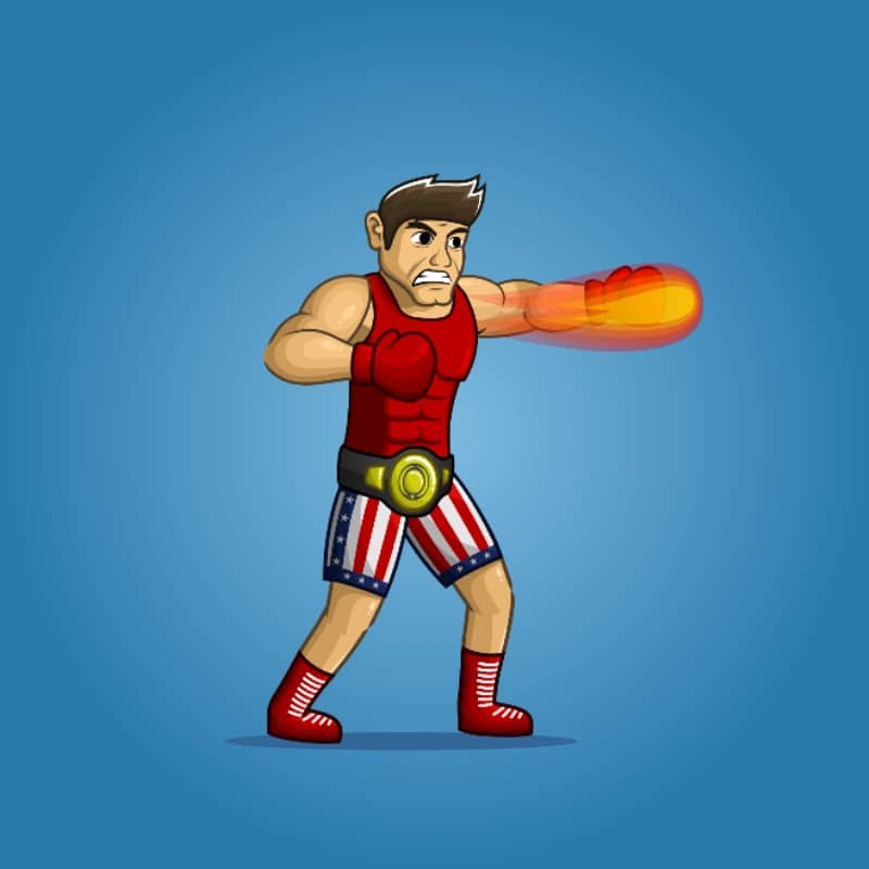 American Boxer - 2D Charcater Sprite