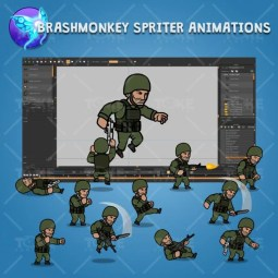 Green Army Guy - Brashmonkey Spriter Character Animations