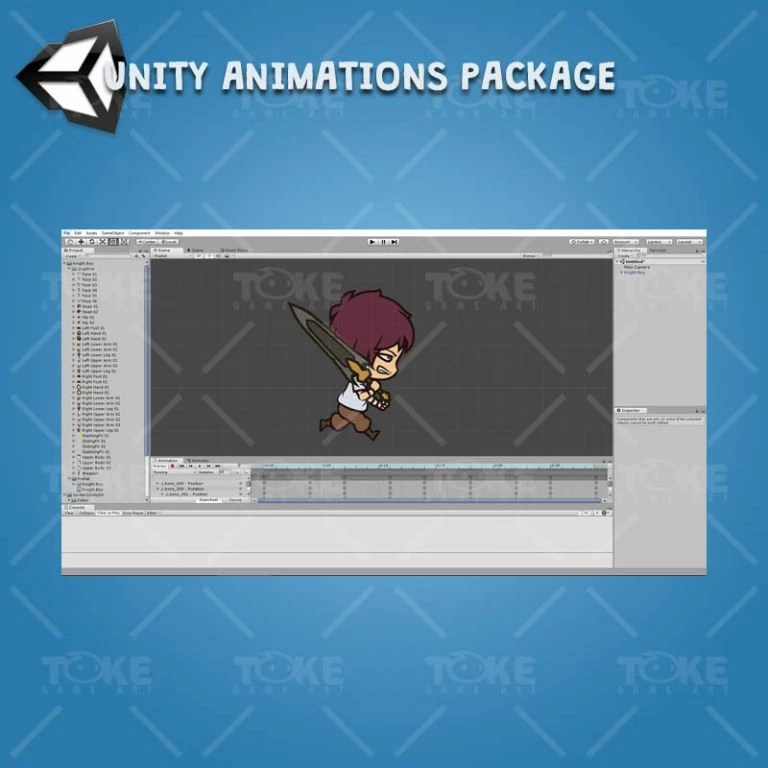 Knight Boy - Unity Charcater Animation Package Ready with Spriter2UnityDX Tool