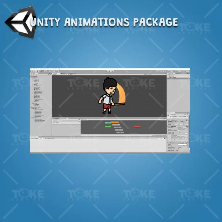 Sad Boy - Unity Animation Package Ready with Spriter2UnityDX Tool