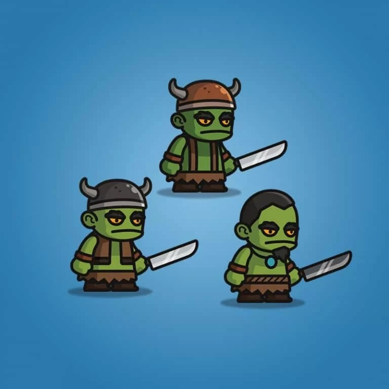 Evil Orc - 2D Character Sprite