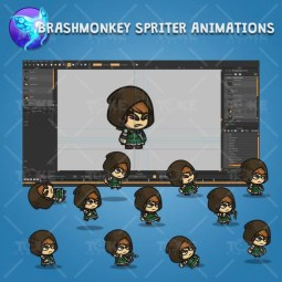Medieval Hooded Archer Girl - Brashmonkey Spriter Character Animations