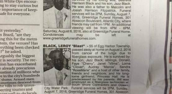Leroy Black's two obituaries