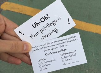 Your privilege is showing card
