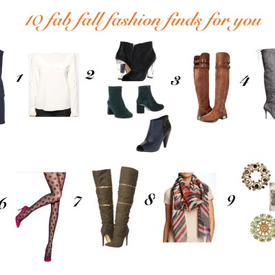 10 fab fall fashion finds for you – Part 1