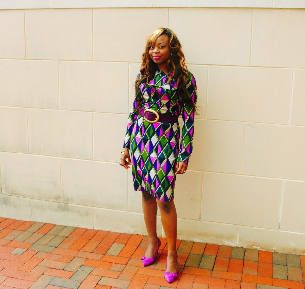 Long sleeve multi-colored purple dress5