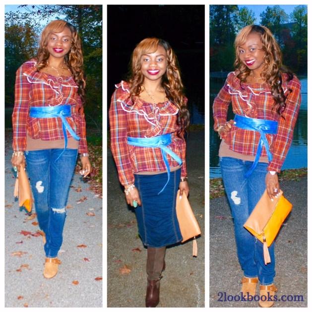 Plaid shirt and Rachel Zoe boots