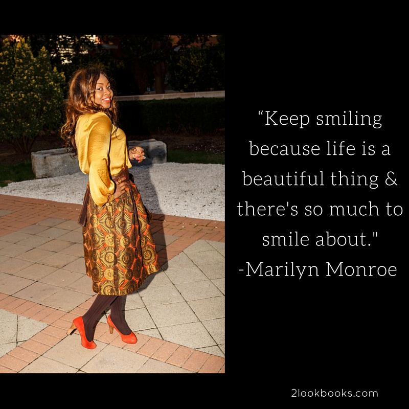 Marilyn Monroe Smiling Quote