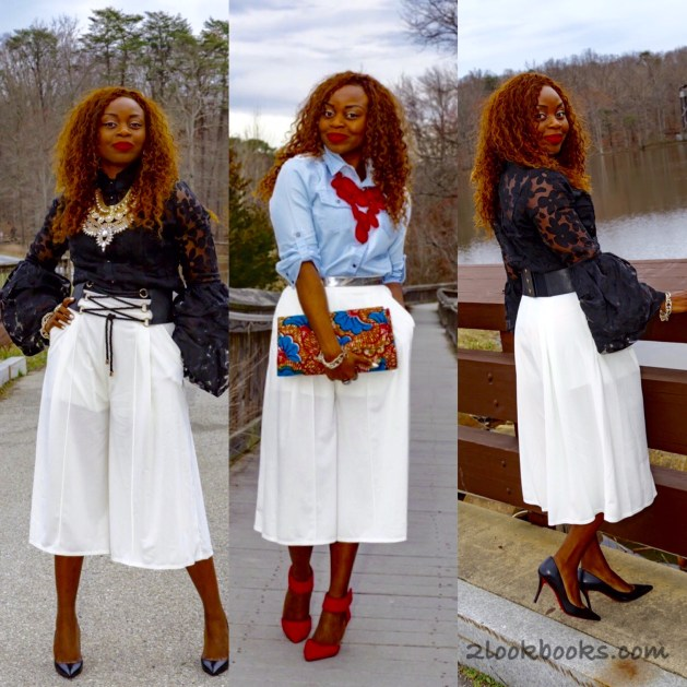 How-to-wear-white-culottes-collage