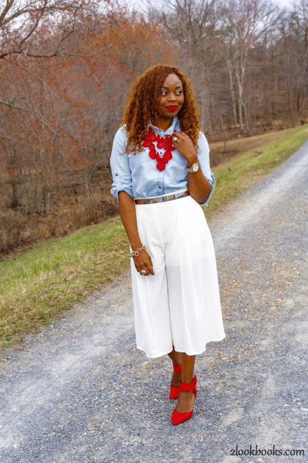 How to wear white culottes16