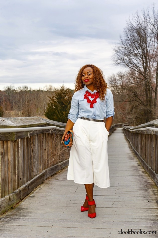 How to wear white culottes22