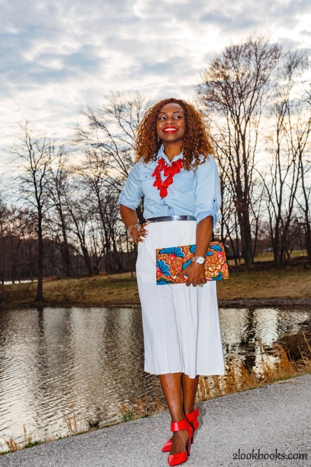 How to wear white culottes26