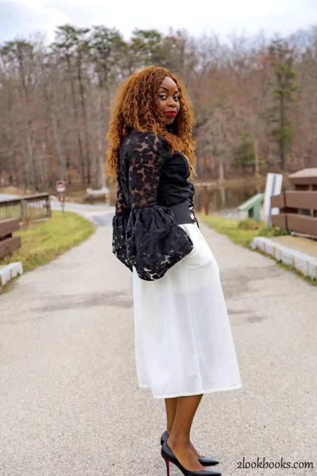 How to wear white culottes4